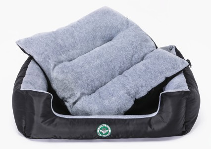 LCPP Faithful Grey Lounger front view with cushion out